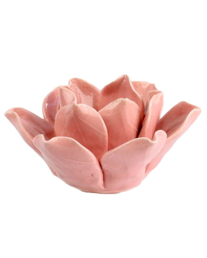 HomArt Lotus Tea Light Holder Pink