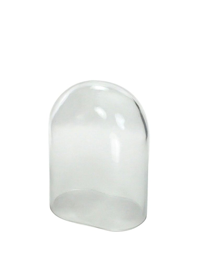 HomArt Oval Glass Dome- Sm Clear