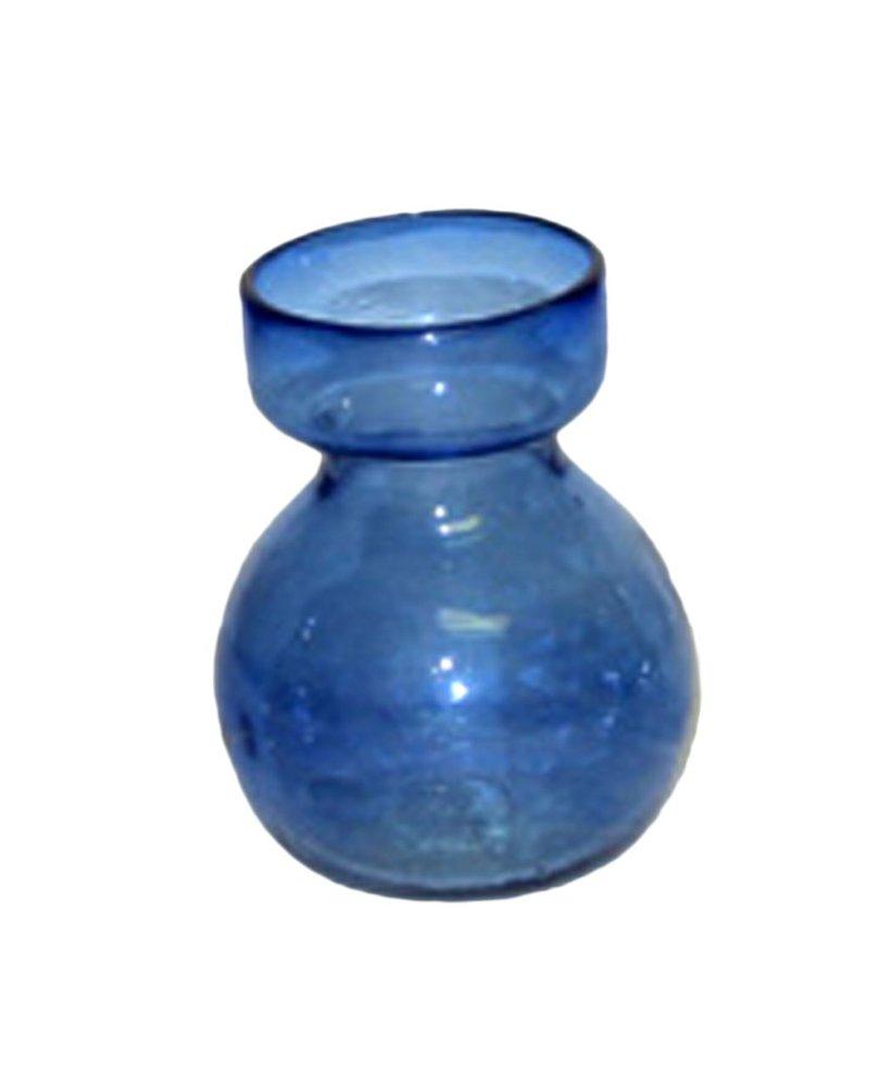 HomArt Bulb Vase Recycled Cobalt