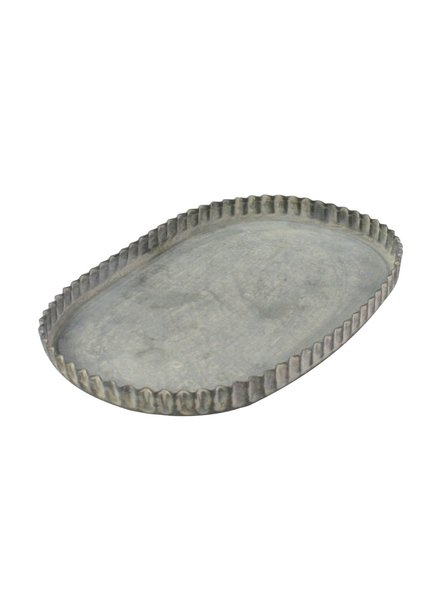 HomArt Ross Fluted Tray - Oval - Med