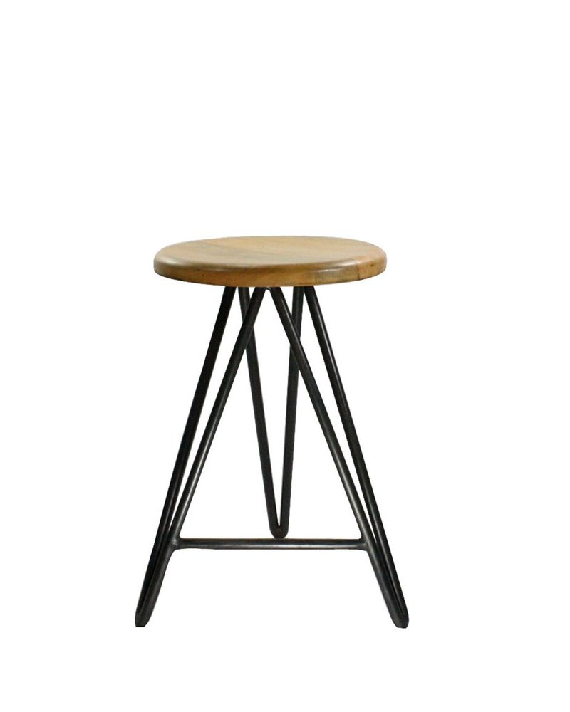 HomArt Harpoon Counter Stool - Wood and Iron Natural