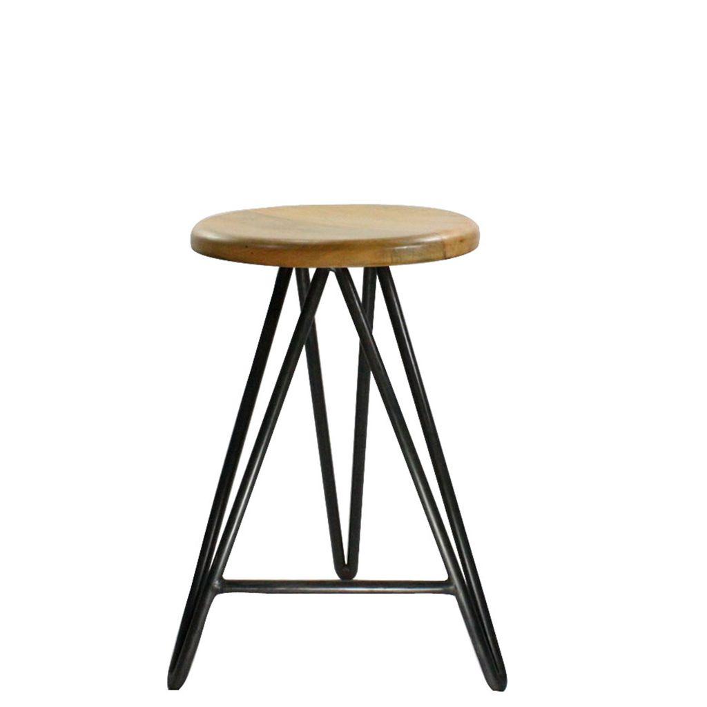 Enjoyable Homart Harpoon Counter Stool Wood And Iron Natural Uwap Interior Chair Design Uwaporg