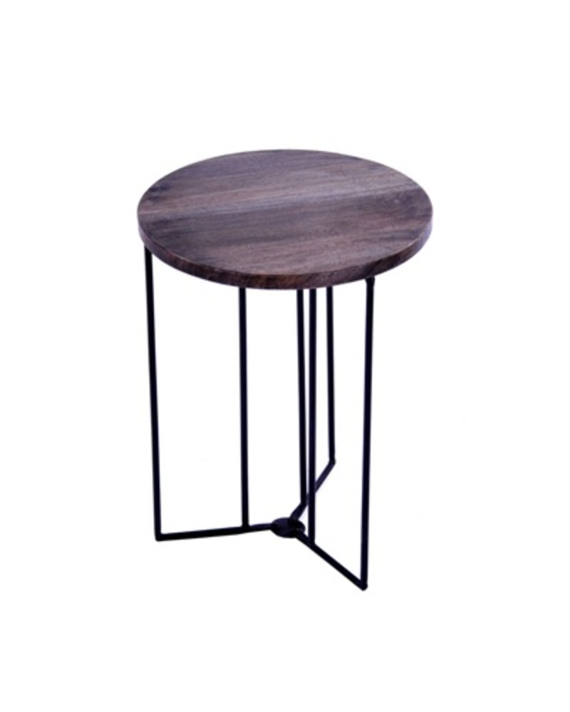 HomArt Studio Collapsing Round Side Table Grey