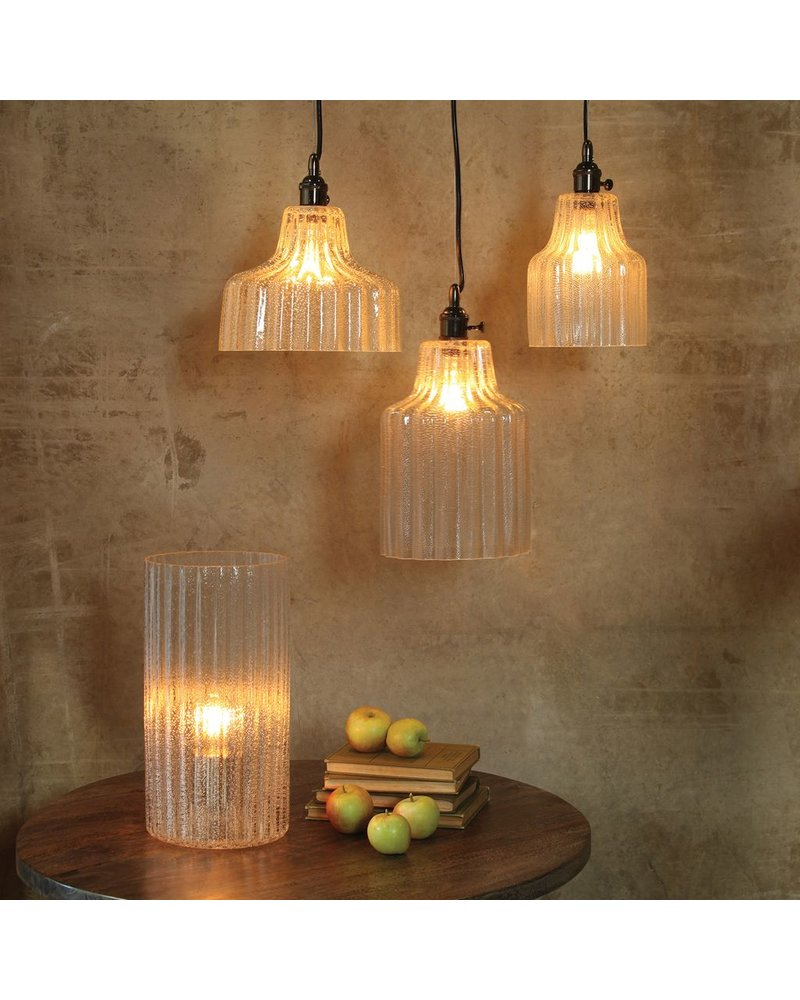 HomArt Stina Glass Pendant Light - Lrg - Clear