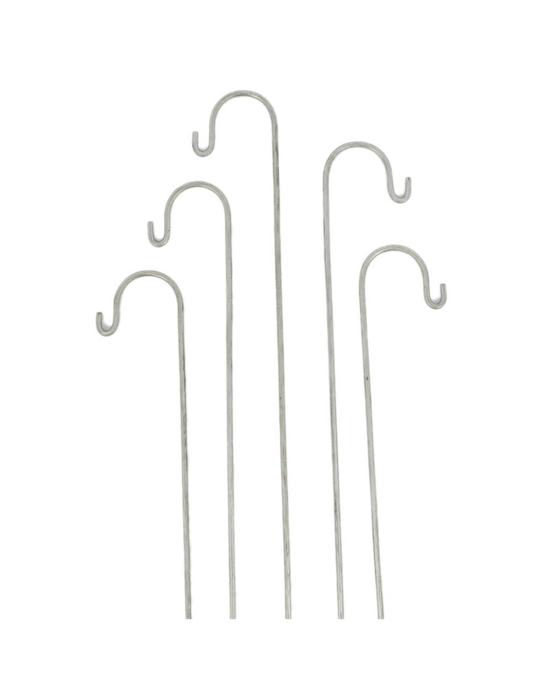 HomArt Zinc Tag Stake Galvanized Set of 24