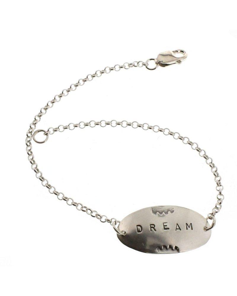 Dream-Sterling Silver Affirmation Bracelet
