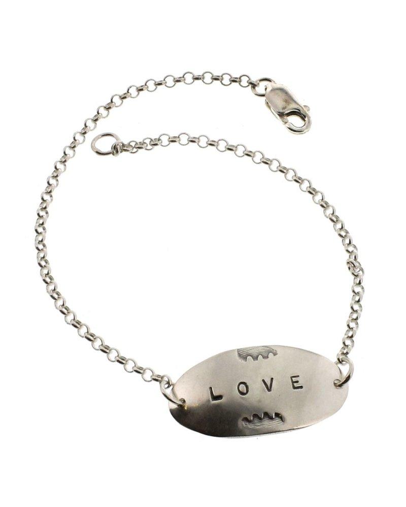 Love-Sterling Silver Affirmation Bracelet