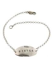 Sister-Sterling Silver Affirmation Bracelet