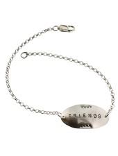 Friends-Sterling Silver Affirmation Bracelet