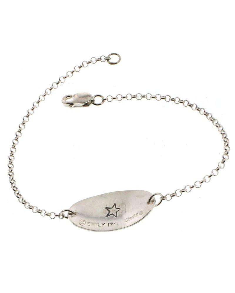 Inspire-Sterling Silver Affirmation Bracelet