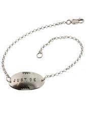 Just Be-Sterling Silver Affirmation Bracelet
