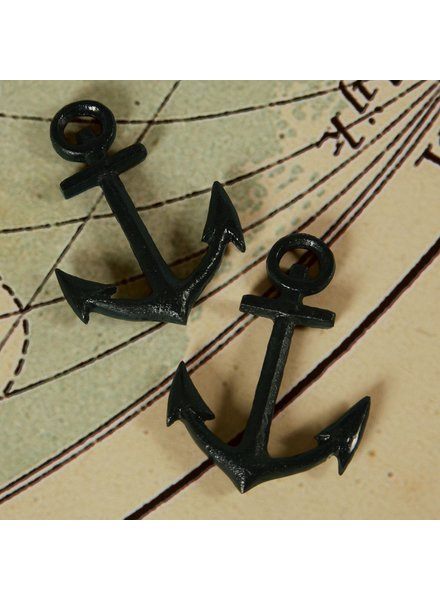 HomArt Anchor - Cast Iron Black - Set of 2