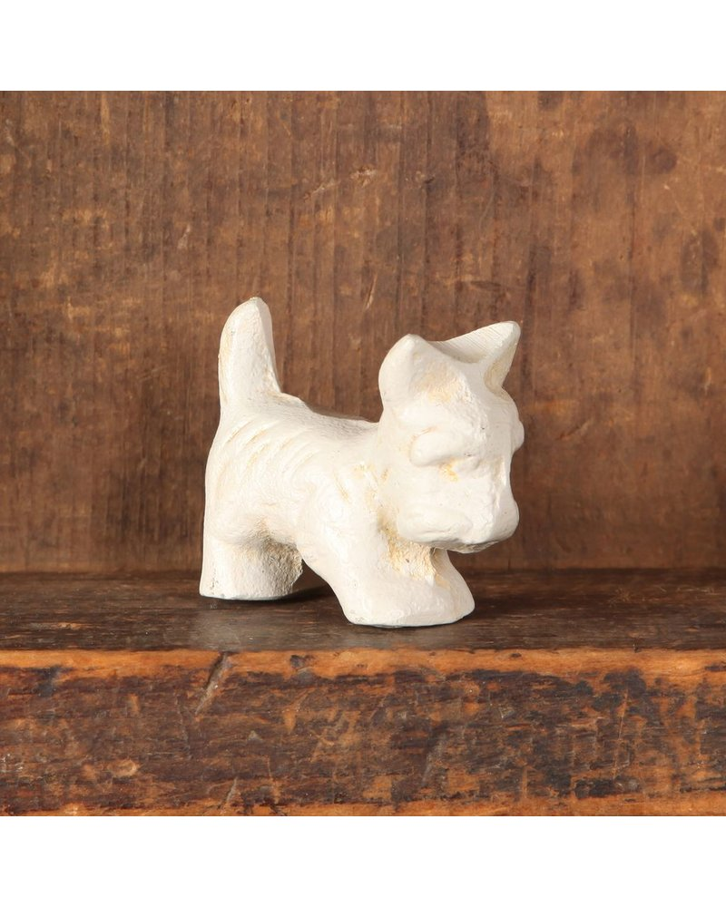 HomArt Baby Bentley the Westie - Cast Iron - Antique White