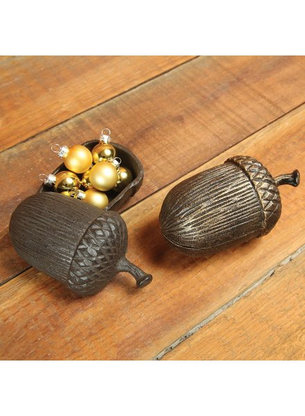HomArt Acorn Box - Cast Iron - Brown