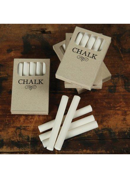 HomArt Box of Chalk - 5 Sticks White
