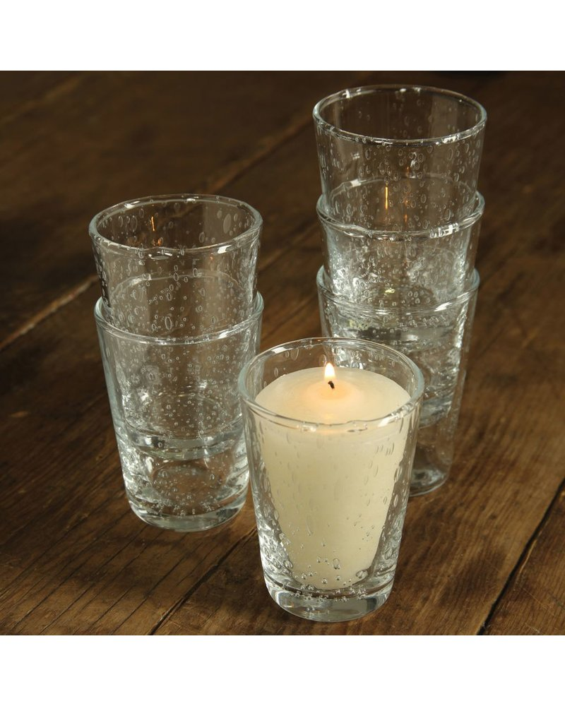 HomArt Country Votive Cup Clear - Set of 2