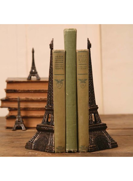 HomArt Eiffel Tower Bookends - Cast Iron Bronze