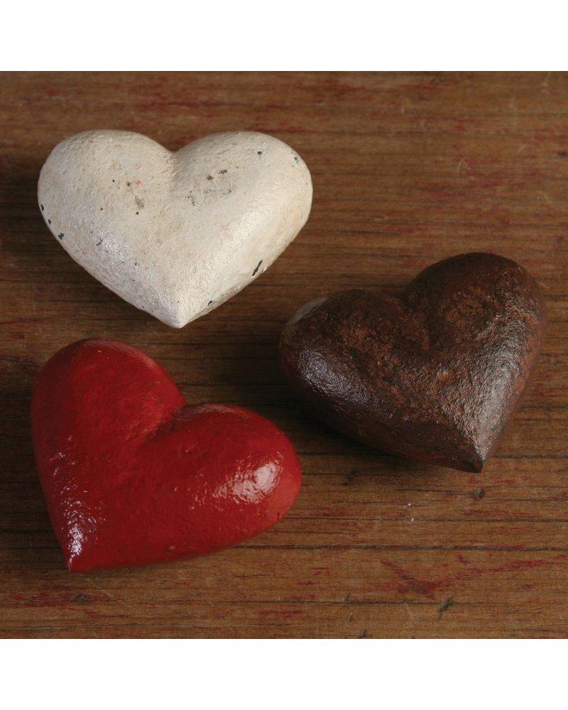 HomArt Heart - Cast Iron White - Set of 2