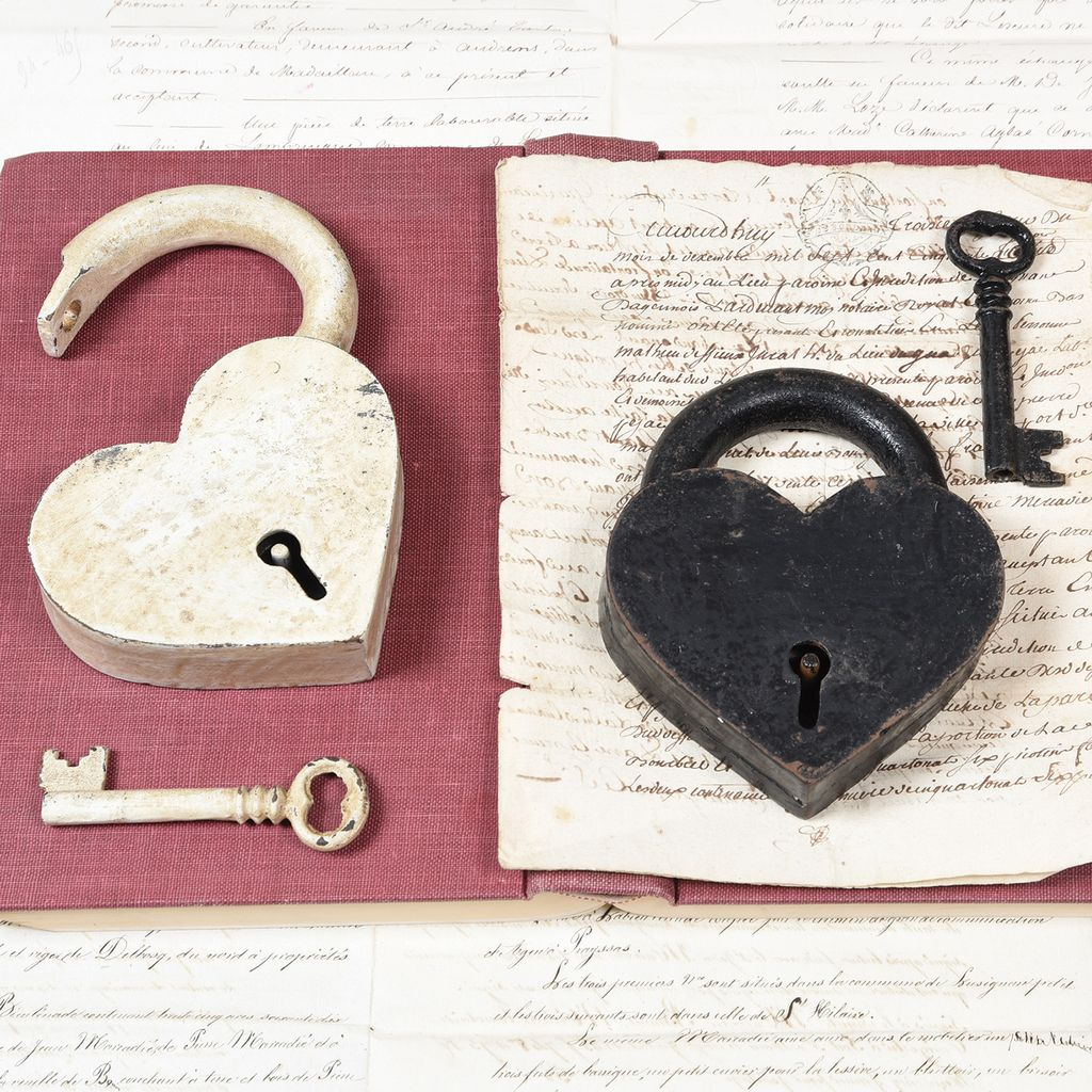 HomArt Heart Lock And Key
