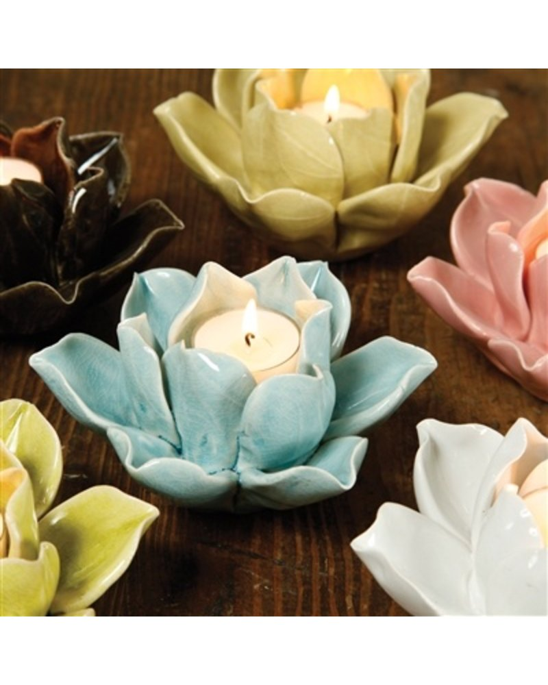 HomArt Lotus Tea Light Holder Yellow