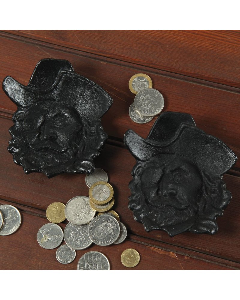HomArt Pirate Face Cast Iron Dish Black