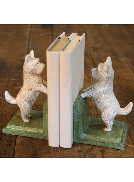 HomArt Standing Westie Bookend - Cast Iron White