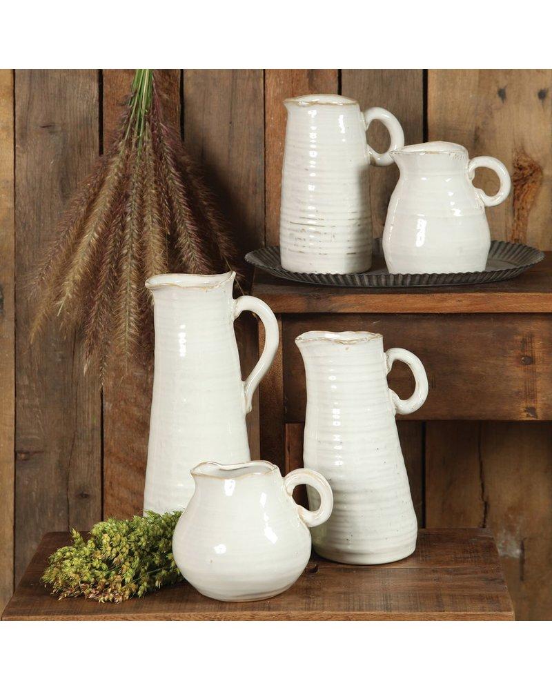 HomArt Summerland Ceramic Vase - Petite Cream