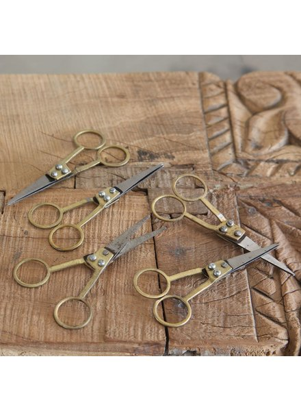 HomArt Tailors Snips Metal and Brass Scissors - Set of 3