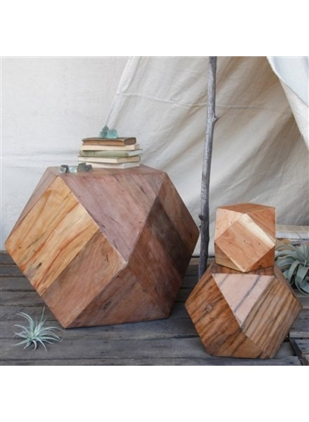 HomArt Icosahedron Wood Block - Med Natural