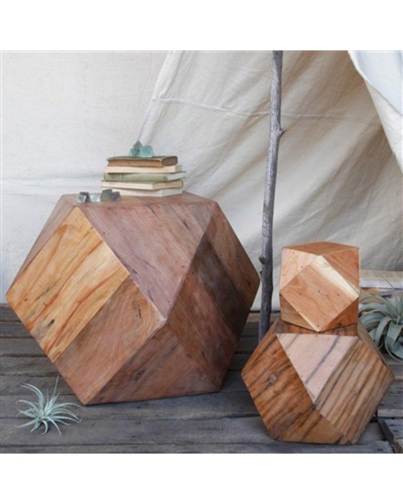 HomArt Icosahedron Wood Block - Med Natural