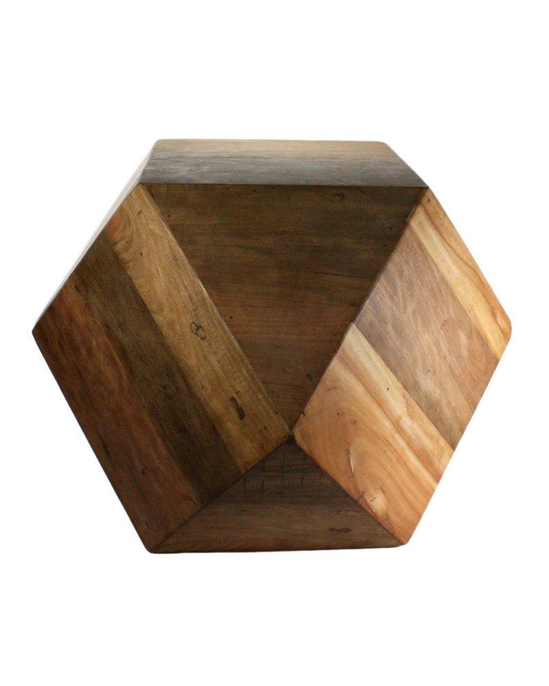 HomArt Icosahedron Wood Block - Lrg Natural