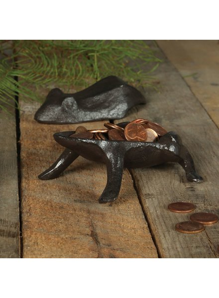 HomArt Frog Box - Cast Iron - Brown