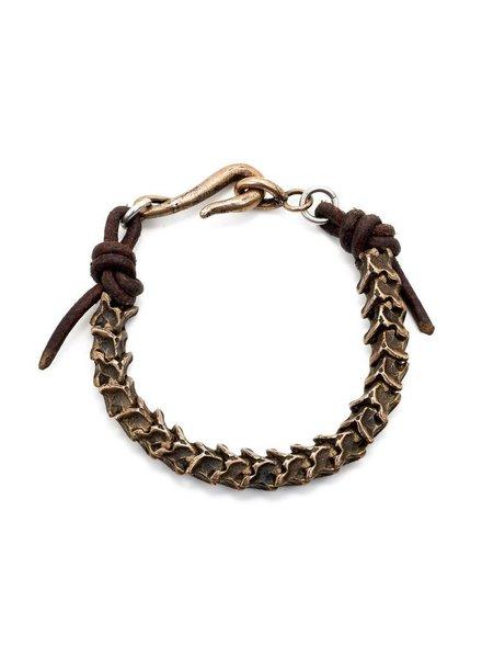 Bronze Snake Vertebrate Bracelet