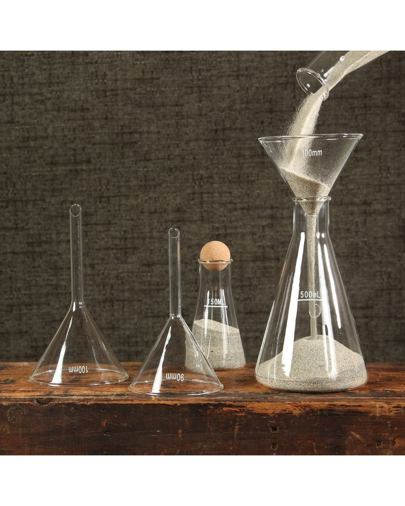 HomArt Chemistry Glass Funnel - 100mm Clear