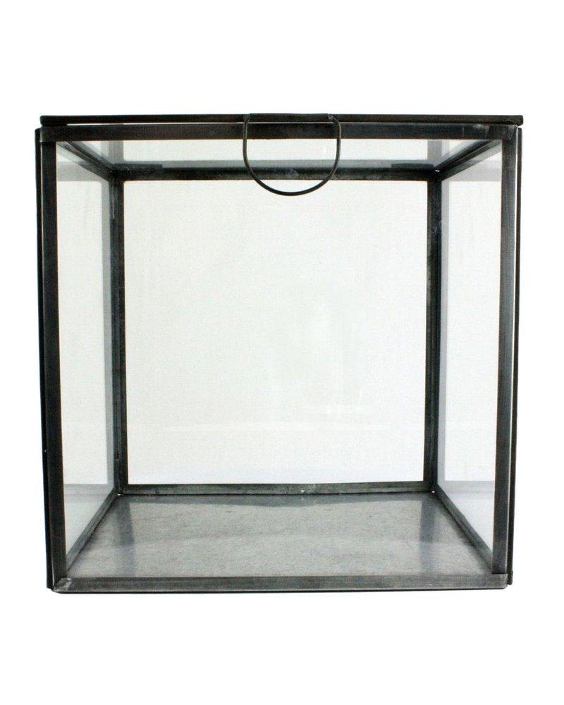 HomArt Pierre Leaded Glass Case Square - Zinc