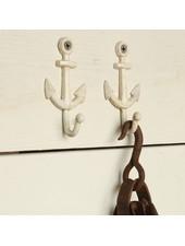 HomArt Anchor Wall Hook Cast Iron - White