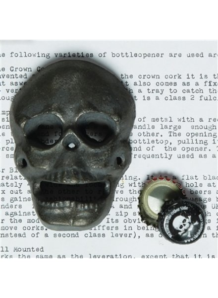 HomArt Skull HomArt Cast Iron Bottle Opener Natural