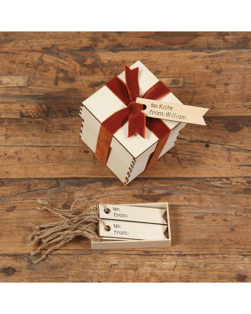 HomArt To: From: Gift Wood Hangtag - Box of 12 - Set of 3 Boxes
