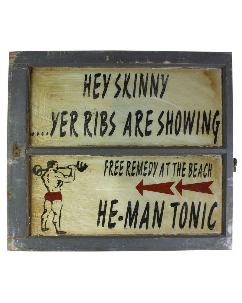 Vintage Window Art - He-Man Tonic
