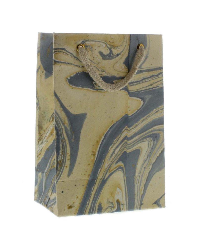 HomArt Marbleized Paper Gift Bag - Sm-Blue