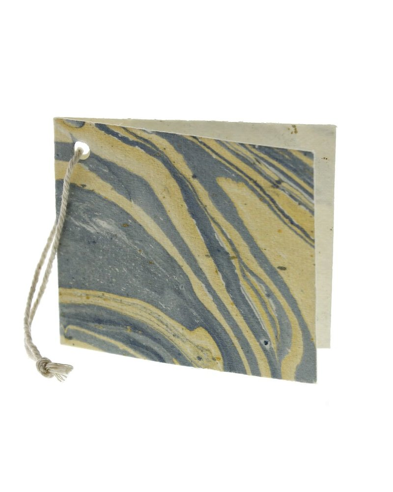 HomArt Blue Marbleized Paper Gift Tag - Pack of 12 - Set of 6 Packs