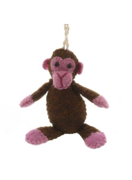HomArt Felt Monkey Ornament
