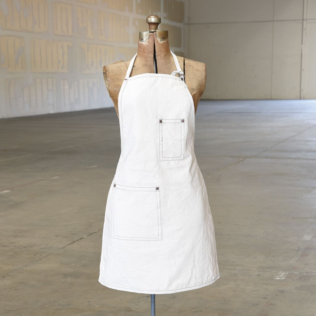 Homart Workshop Canvas Apron Baker Ivory Areohome