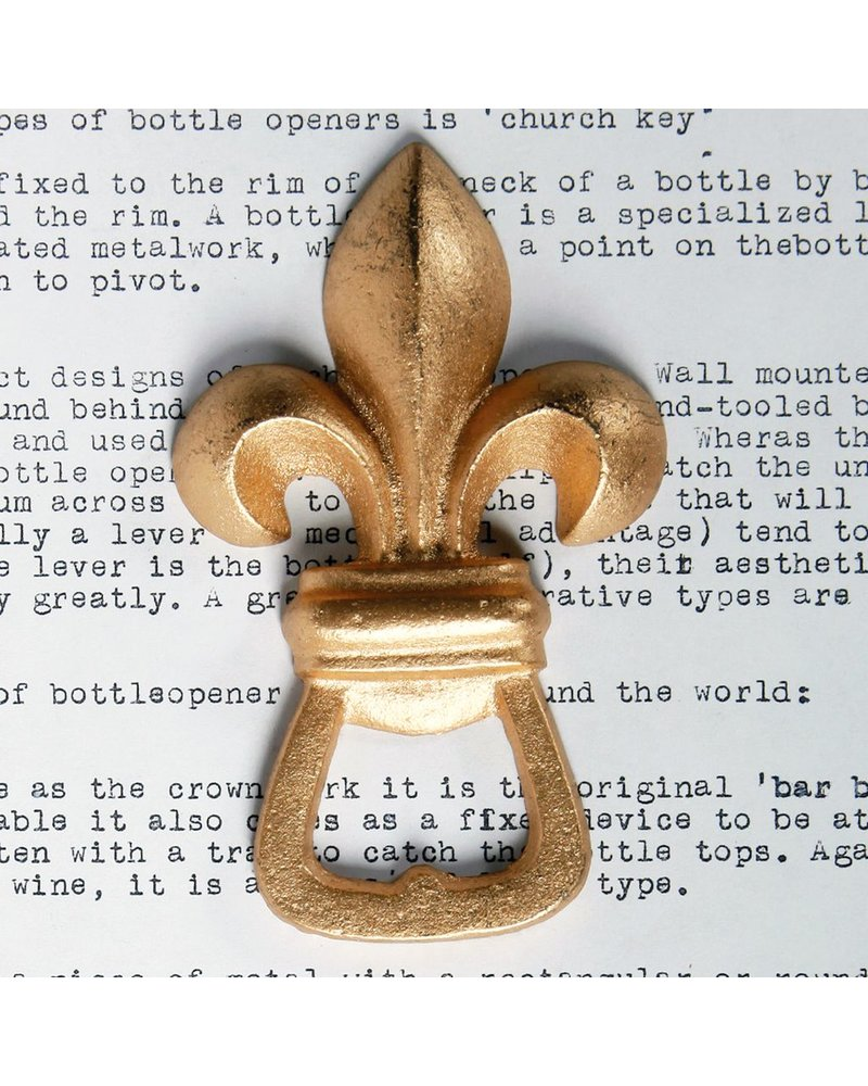 HomArt Fleur De Lys HomArt Bottle Opener Gold - Set of 2