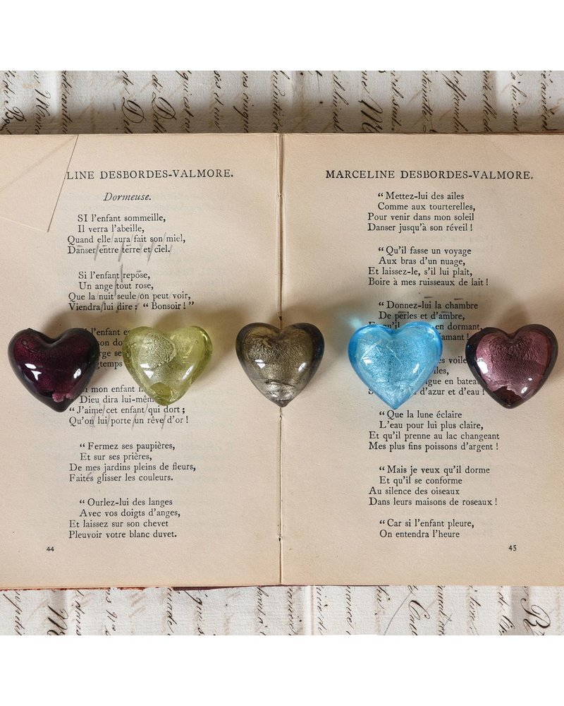 HomArt Venetian Glass Heart Sky Blue (Half Bakers Dozen Online Only)