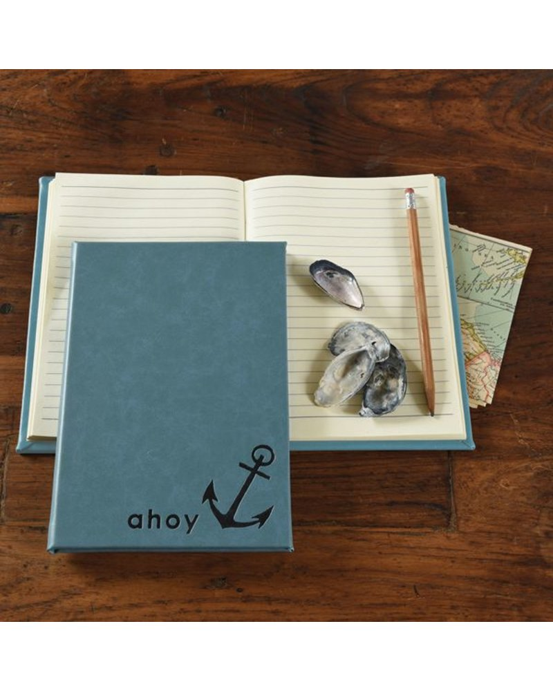 HomArt Embossed Durable Faux Leather Guest Book - Ahoy