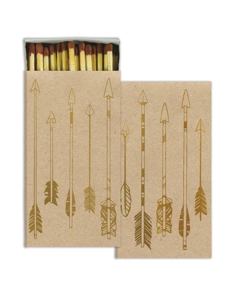 HomArt HomArt Arrows Gold Foil Matches - Set of 3 Boxes
