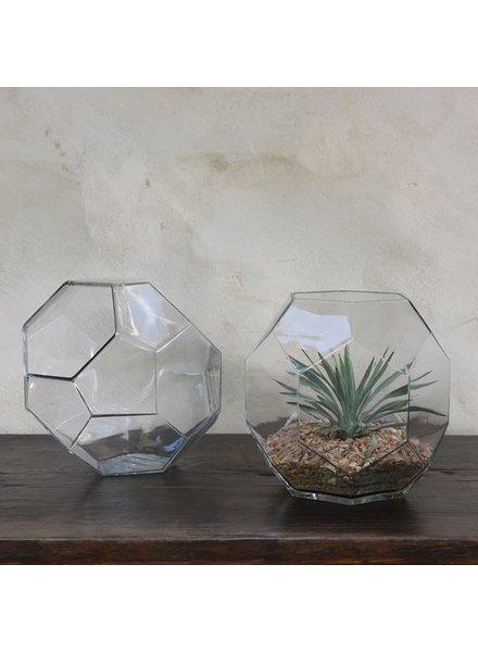 HomArt Dodecahedron Glass Vase