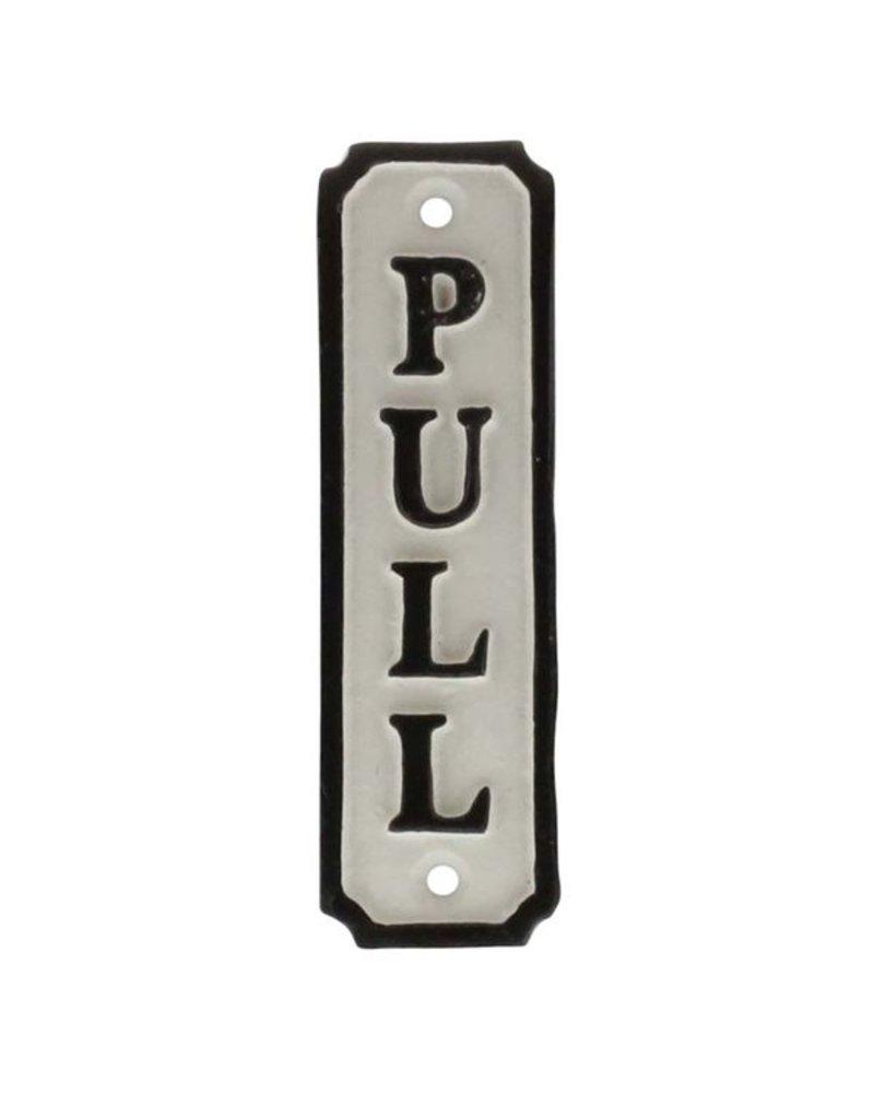 HomArt Door Pull Cast Iron Sign - Set of 2