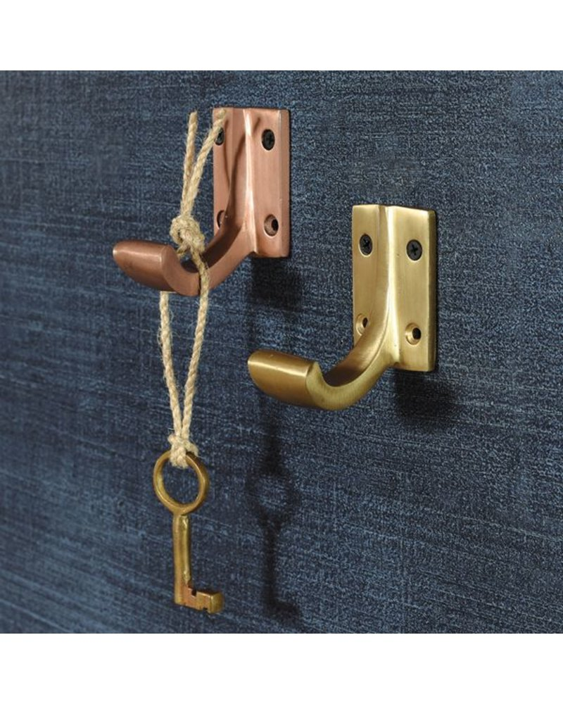 HomArt Foyer Aluminum Wall Hook in Brass Finish